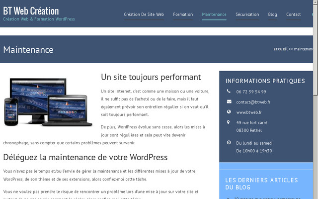 BT Web Maintenance : spécialiste de la maintenance WordPress