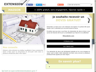 Devis gratuit travaux extension de maison for Devis extension